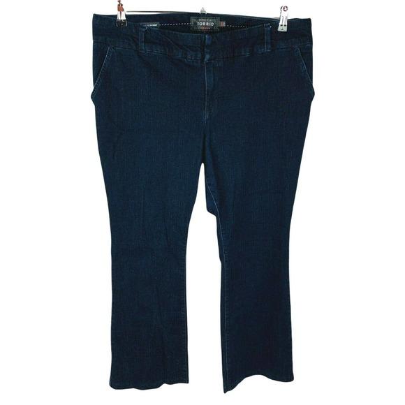 Torrid Womans Sz 20R Plus Trouser Slim Boot Stretch Jeans Blue Denim Pockets